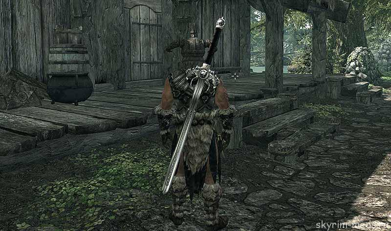 Как сделать даэдрический меч скайрим