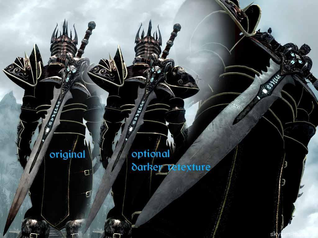 Меч Ледяная Скорбь и броня Короля Лича