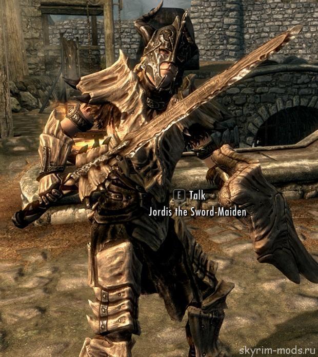 Плагин добавляет оружие из кости дракона ,а именно Меч ,Лук и Боевой Молот