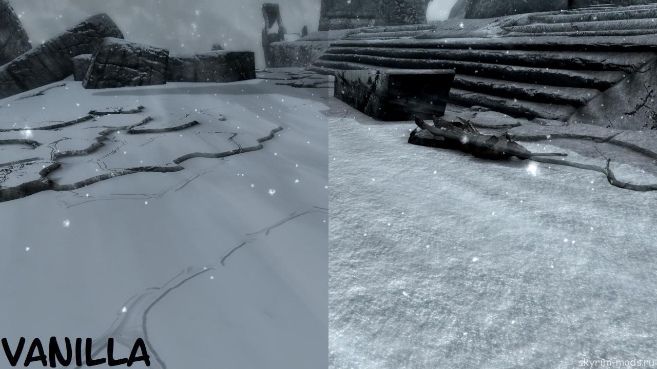 Реалистичный снег