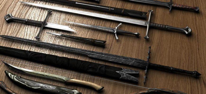 Коллекция оружия из Властелина колец