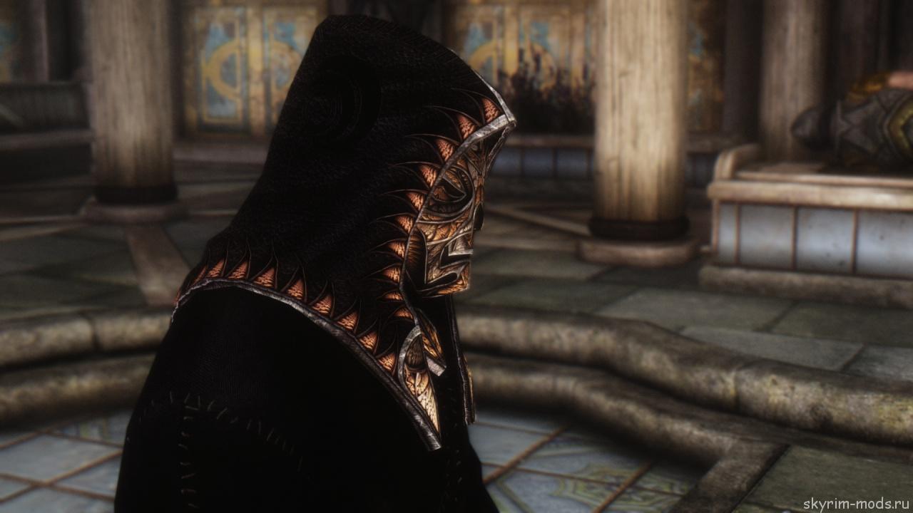 Мод на ретекстур масок драконьих жрецов