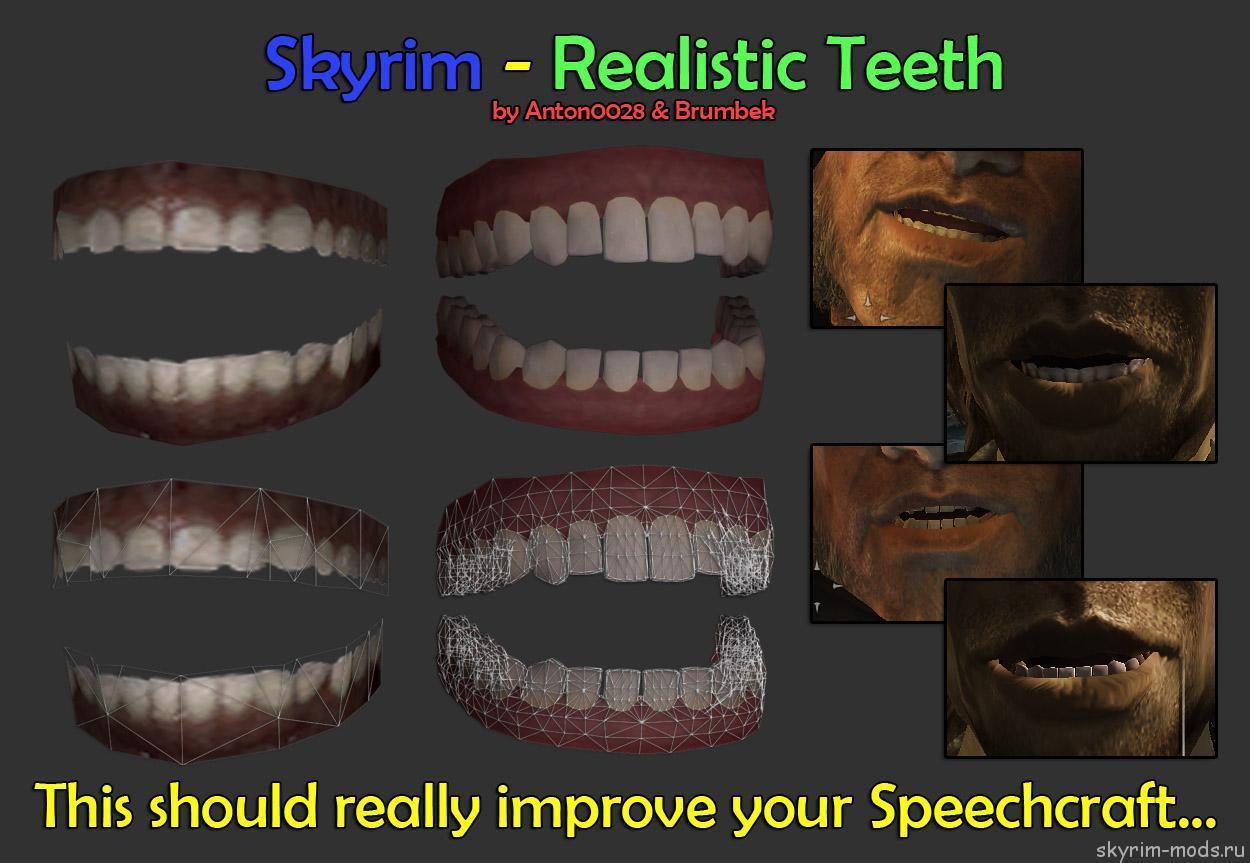 Реалистичные челюсти