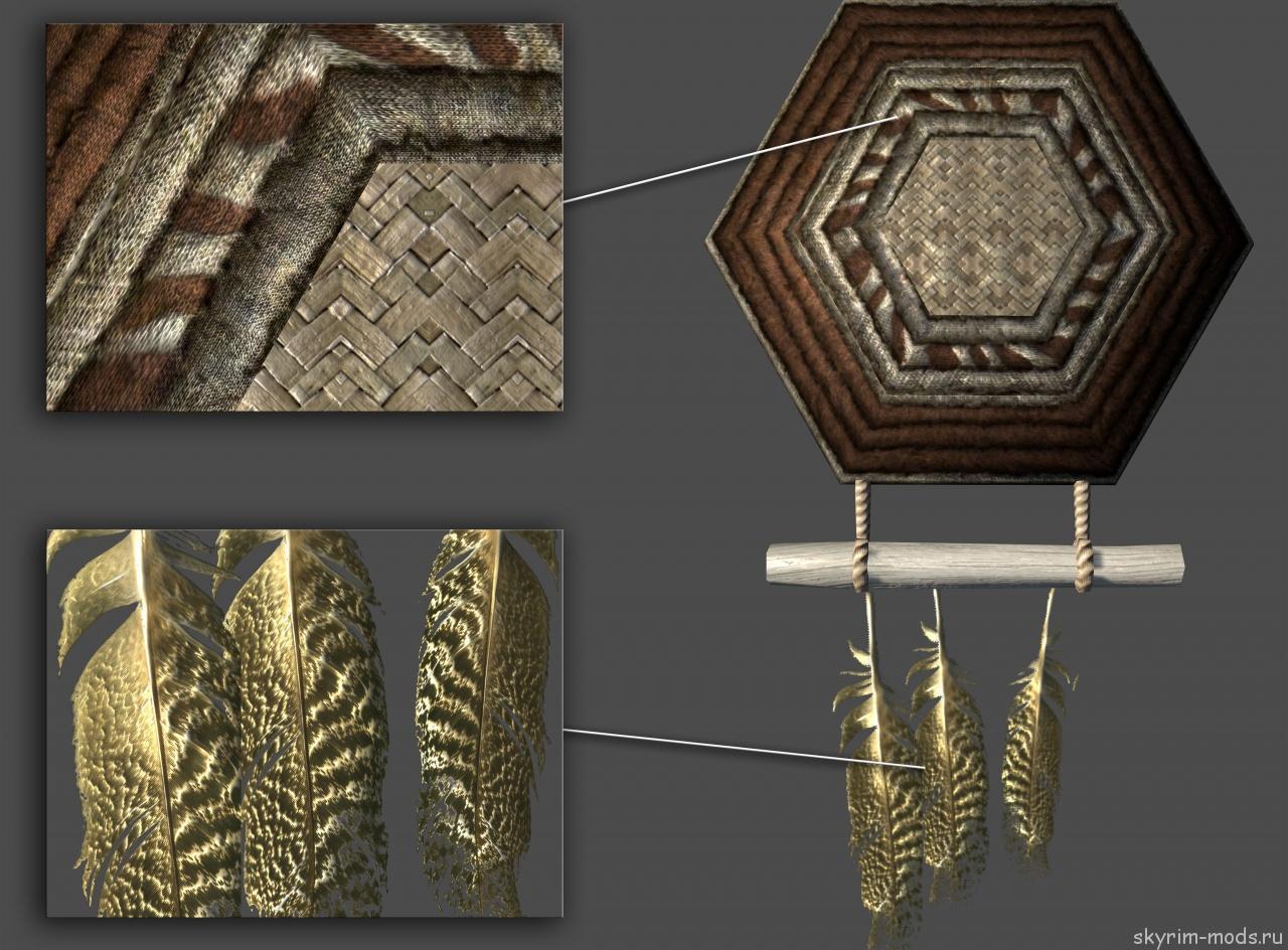 HD декоративные плетёные предметы