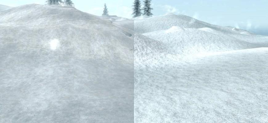 Новые текстуры для снега