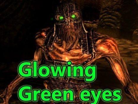 Зелёное свечение глаз