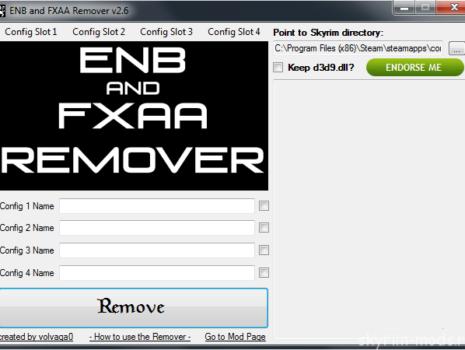 Программа для удаления ENB, SweetFX и FXAA